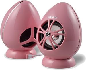 彼女へのクリスマスプレゼントならピンクの卵型のかわいいパソコンスピーカーがおすすめ